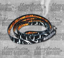 Harley-Davidson® 6 Feet Abstract Flames Sublimated Pet Dog Leash H0466-HAF06