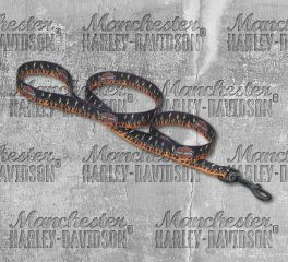 Harley-Davidson® 4 Feet Flames Bar & Shield® Nylon Leash H0964-H-FHD04
