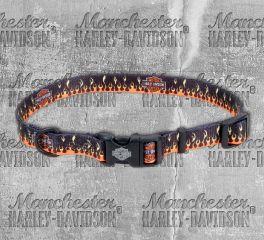 Harley-Davidson® Flames Adjustable Pet Collar H6402-H-FHD18