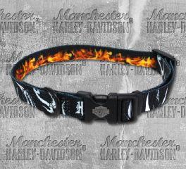 Harley-Davidson® Abstract Flame Adjustable Pet Collar H6402-H-HAF18