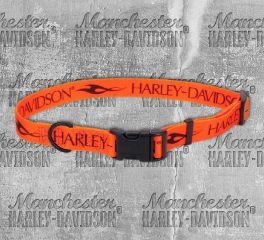 Harley-Davidson® Tribal Orange and Black Adjustable Pet Collar H6402-H-ORN18