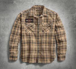 Harley-Davidson® Patch Printed Plaid Slim Fit Shirt 96263-18VM