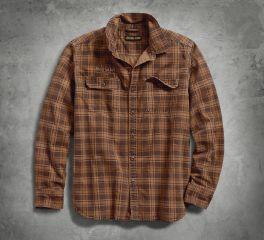 Harley-Davidson® Printed Plaid Slim Fit Shirt 96265-18VM