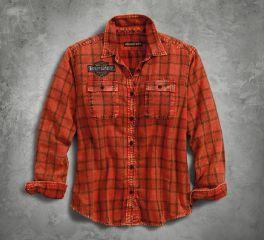 Harley-Davidson® Patch Plaid Shirt 96270-18VW