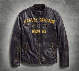 Harley-Davidson® Forge Slim Fit Leather Jacket 97006-18VM