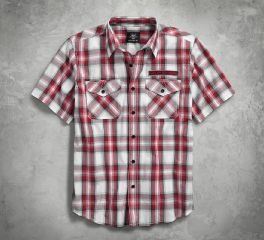 Harley-Davidson® Checkerboard Plaid Shirt 96181-18VM