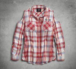 Harley-Davidson® Americana Eagle Plaid Shirt 96211-18VW
