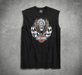 Harley-Davidson® Checkered Flag Eagle Muscle Tee 96197-18VM