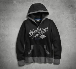 Harley-Davidson® Mesh Lace Accent Hoodie 96219-18VW