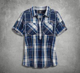 Harley-Davidson® Printed Eagle Pullover Plaid Shirt 96222-18VW