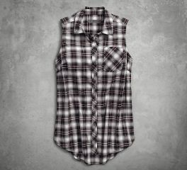 Harley-Davidson® HDMC Sleevless Plaid Shirt 96246-18VW
