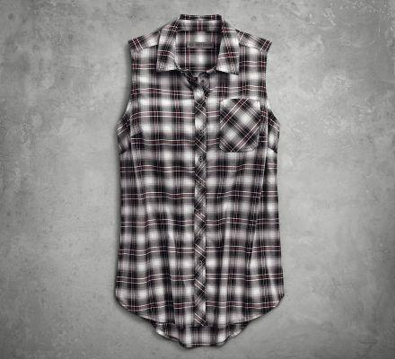 Harley-Davidson® HDMC Sleevless Plaid Shirt 96246-18VW