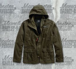 Men's Flannel Lined Hooded Utility Jacket