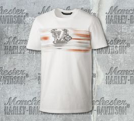 Harley-Davidson® Men's Layered Print Slim Fit Short Sleeve Tee 99152-19VM