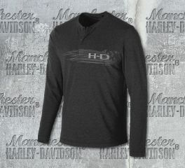 Harley-Davidson® Men's Merino Wool Blend Slim Fit Henley 99149-19VM