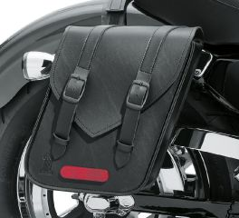Harley-Davidson® Black Standard Line Compact Throw-Over Saddlebags 90201769