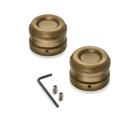 Harley-Davidson® Dominion Front Axle Nut Covers 43000123