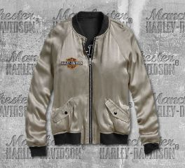 Harley-Davidson® Reversible Tiger Satin Bomber Jacket 96627-19VW