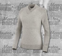 Harley-Davidson® Wool Blend V-Neck Sweater 96615-19VW