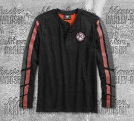 Harley-Davidson® Dual Stripe Henley 96550-19VM