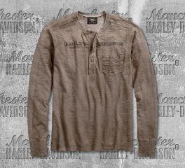 Harley-Davidson® Jersey Slub Knit Henley 96542-19VM