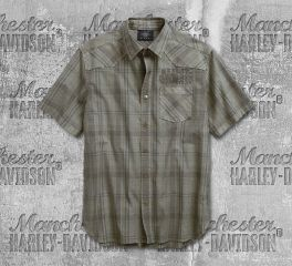 Harley-Davidson® Over-Dyed Plaid Shirt 96540-19VM