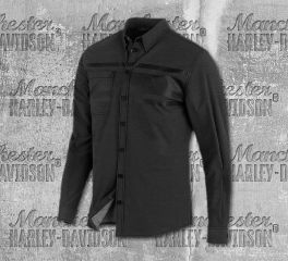 Harley-Davidson® Double Weave Stretch Slim Fit Shirt 96523-19VM