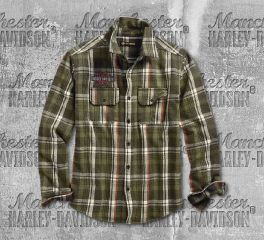 Harley-Davidson® Logo Plaid Slim Fit Shirt 96513-19VM