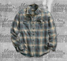 Harley-Davidson® Printed Plaid Slim Fit Shirt 96511-19VM