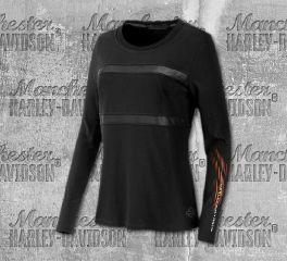 Harley-Davidson® Mesh Stripe Jersey Tee 96363-19VW