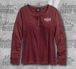 Harley-Davidson® Ribbed Henley 96339-19VW