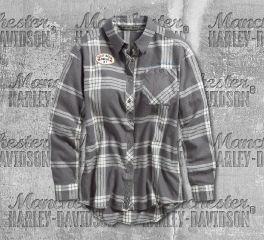 Harley-Davidson® Eagle Graphic Plaid Shirt 96328-19VW