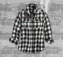 Harley-Davidson® V-Twin Eagle Plaid Shirt 96314-19VW