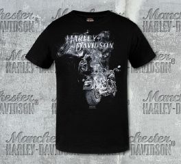 Harley-Davidson® Boys Black Smokey Motorcycle Short Sleeve Tee, RK Stratman Inc. R001162