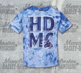 Harley-Davidson® Boys Blue Rustler Short Sleeve Tee, RK Stratman Inc. R002673