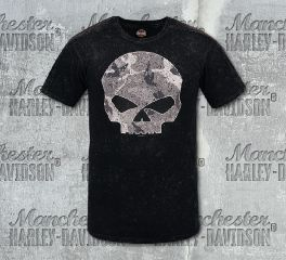 Harley-Davidson® Men's Black Camo Short Sleeve Tee, RK Stratman Inc. R002923