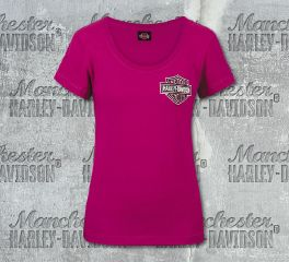 Harley-Davidson® Women's Berry Logo Short Sleeve Tee, RK Stratman Inc. R002655