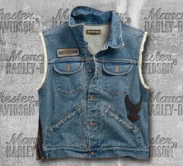 Harley-Davidson® Blowout Slim Fit Denim Vest 99257-19VM