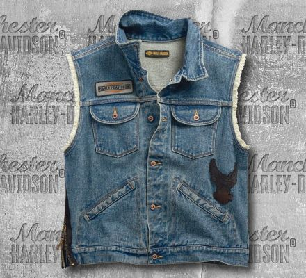 Harley-Davidson® Blowout Slim Fit Denim Vest 99257-19VM