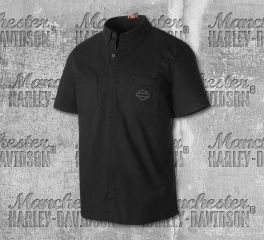 Harley-Davidson® Stretch Poplin Slim Fit Shirt 99151-19VM