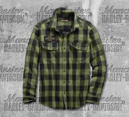 Harley-Davidson® Buffalo Plaid Slim Fit Shirt 99139-19VM