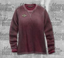 Harley-Davidson® Distressed Print Waffle Knit Tee 99125-19VW