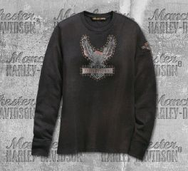 Harley-Davidson® Studded Distressed Eagle Tee 99124-19VW