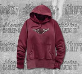 Harley-Davidson® Studded Wing Pullover Hoodie 99122-19VW