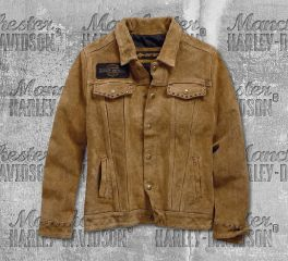 Harley-Davidson® Gauges Suede Leather Jacket 98040-19VW