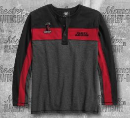 Harley-Davidson® Colourblock Henley 96177-18VM