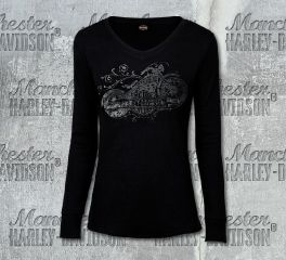 Harley-Davidson® Women's Shadowed Long Sleeve Tee, RK Stratman Inc. R002949
