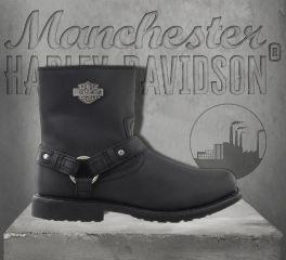 Harley-Davidson® Men's Black Scout Motorcycle Boots, Wolverine D95262