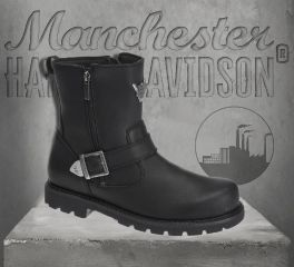 Harley-Davidson® Men's Black Flagstone Motorcycle Boots, Wolverine D93307