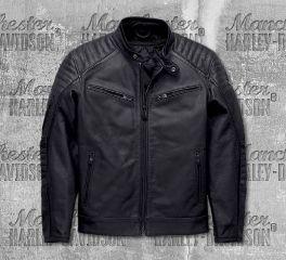Harley-Davidson® Men's Black Wrayburn Leather Slim Fit Jacket 97019-19EM